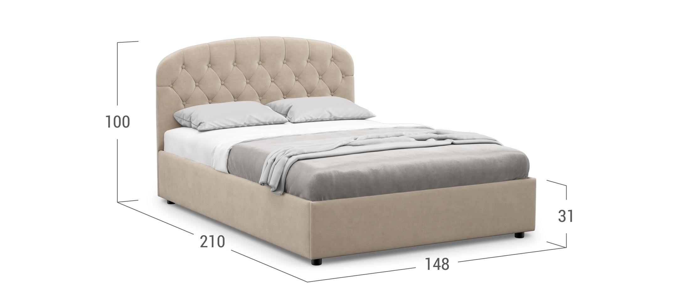 Кровать двуспальная Viana 140х200 Модель 1227